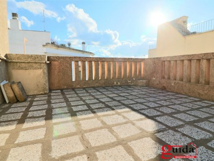Typical dwelling in a courtyard in the heart of the old town of Matino with panoramic terrace